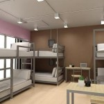 Female Dormitory in pink gray and white