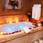 Decorating tips for a romantic bath