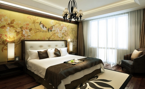 Oriental Themed Pros Bedroom