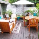 Decorate cool and bright chill out porch